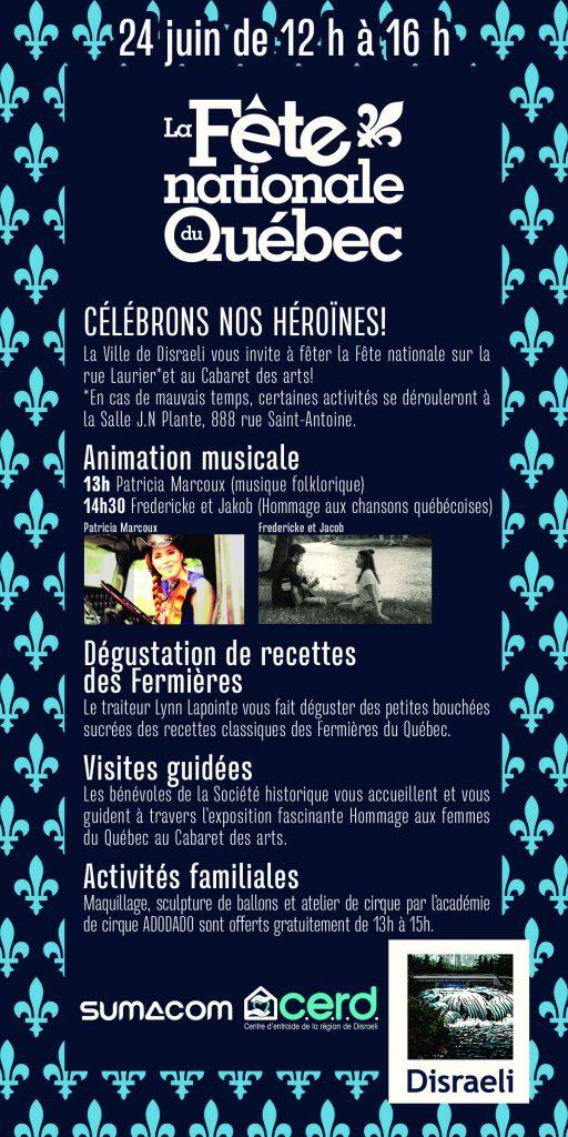 Fête nationale à Disaeli @ Sur la rue Laurier, Cabaret des arts, CERD (en cas de pluie) | Disraeli | Québec | Canada