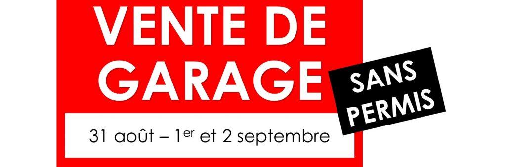 Vente de garage automne