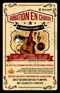 Animation en chansons - musique et danse ! @ Cabaret des arts