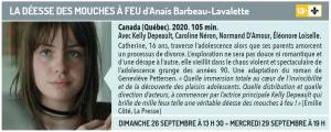 Cinéma du lac présente LA DÉESSE DES MOUCHES À FEU d'Anaïs Barbeau-Lavalette